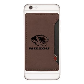 University of Missouri-Cell Phone Card Holder-Brown