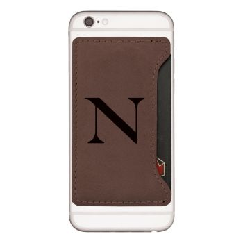 Northeastern University-Cell Phone Card Holder-Brown
