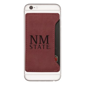 New Mexico State-Cell Phone Card Holder-Burgundy