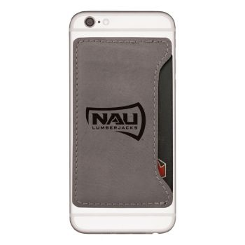 Northern Arizona University-Cell Phone Card Holder-Grey