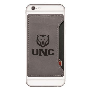 University of Northern Colorado -Cell Phone Card Holder-Grey