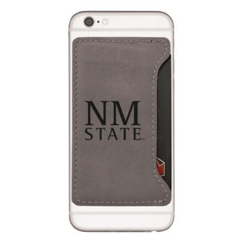 New Mexico State-Cell Phone Card Holder-Grey