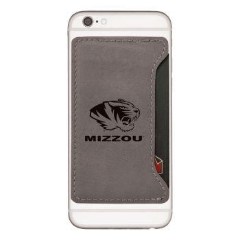 University of Missouri-Cell Phone Card Holder-Grey