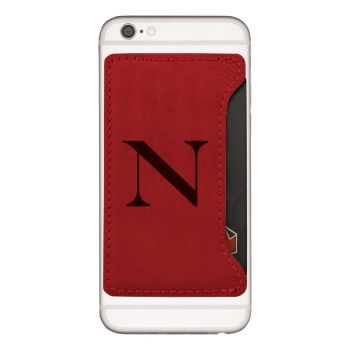 Northeastern University-Cell Phone Card Holder-Red