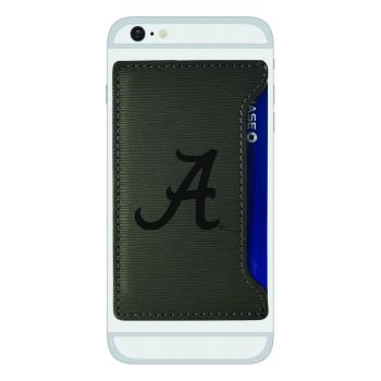 University of Alabama-Textured Faux Leather Cell Phone Card Holder-Grey
