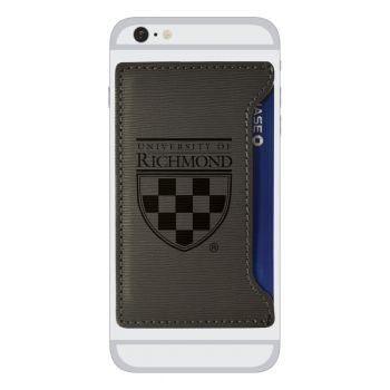 University of Richmond -Textured Faux Leather Cell Phone Card Holder-Grey
