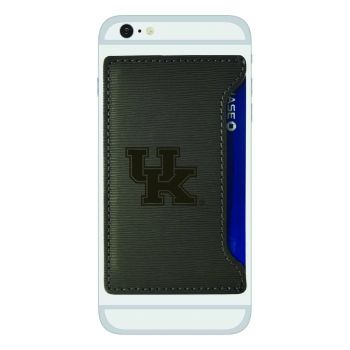 University of Kentucky-Textured Faux Leather Cell Phone Card Holder-Grey