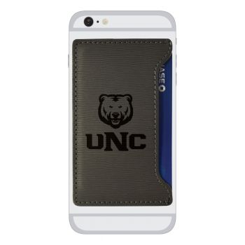 University of Northern Colorado-Textured Faux Leather Cell Phone Card Holder-Grey
