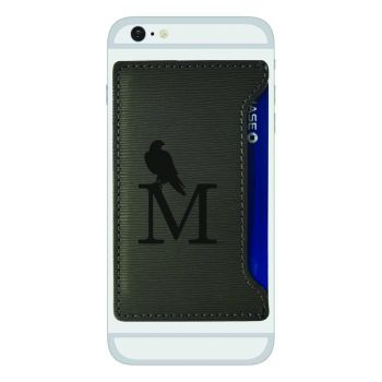 University of Montevallo-Textured Faux Leather Cell Phone Card Holder-Grey
