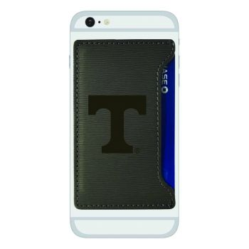 University of Tennessee-Textured Faux Leather Cell Phone Card Holder-Grey