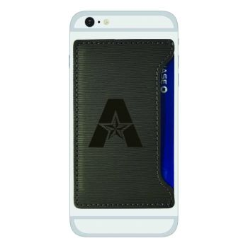 University of Texas at Arlington-Textured Faux Leather Cell Phone Card Holder-Grey