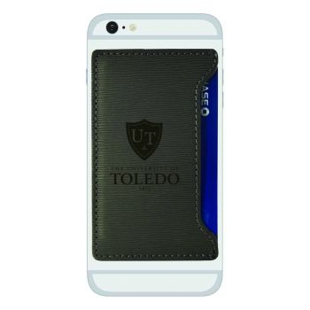 University of Toledo-Textured Faux Leather Cell Phone Card Holder-Grey