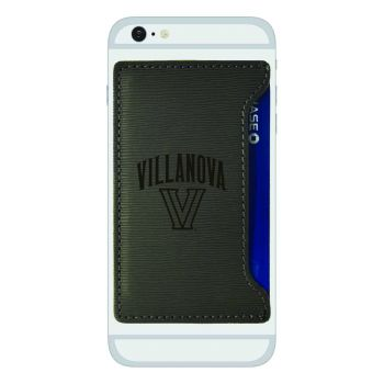 Villanova University-Textured Faux Leather Cell Phone Card Holder-Grey