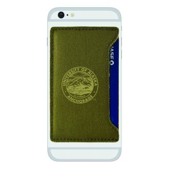 University of Alaska Anchorage-Durable Canvas Card Holder-Olive