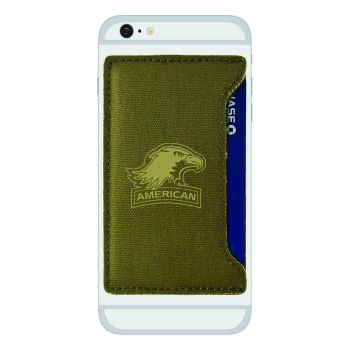 American University-Durable Canvas Card Holder-Olive