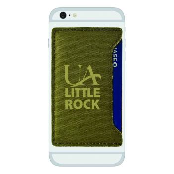 University of Arkansas At Little Rock-Durable Canvas Card Holder-Olive