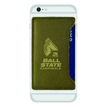 Ball State University-Durable Canvas Card Holder-Olive