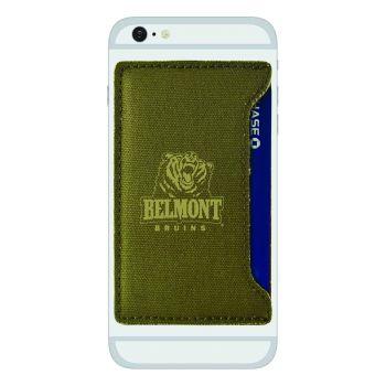 Belmont University-Durable Canvas Card Holder-Olive