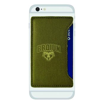 Brown University-Durable Canvas Card Holder-Olive