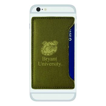 Bryant University-Durable Canvas Card Holder-Olive