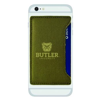 Butler University -Durable Canvas Card Holder-Olive