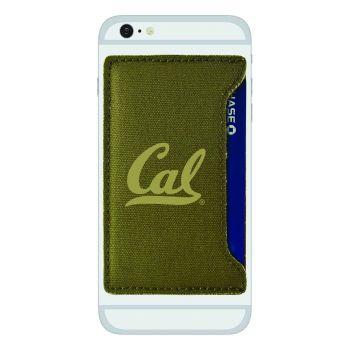 University of California Berkeley -Durable Canvas Card Holder-Olive