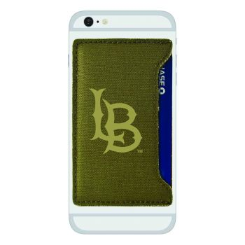 Long Beach State University-Durable Canvas Card Holder-Olive