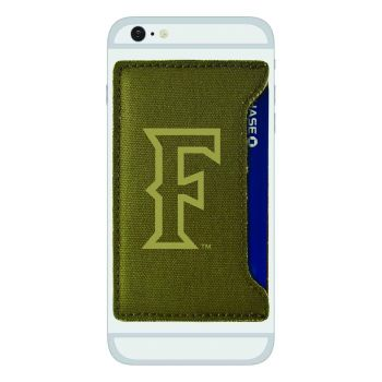 California State Univeristy Fullerton -Durable Canvas Card Holder-Olive