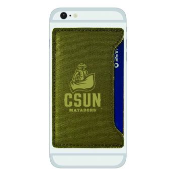 California State University, Northridge-Durable Canvas Card Holder-Olive