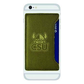 Cleveland State University-Durable Canvas Card Holder-Olive