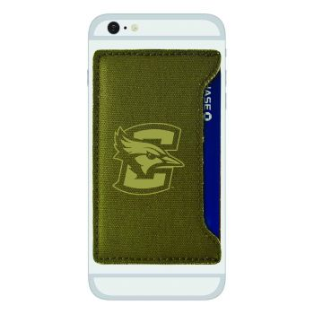 Creighton University-Durable Canvas Card Holder-Olive