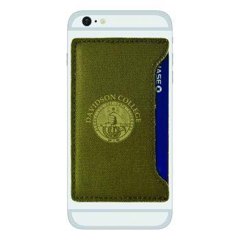 Davidson College-Durable Canvas Card Holder-Olive