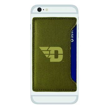 University of Dayton-Durable Canvas Card Holder-Olive