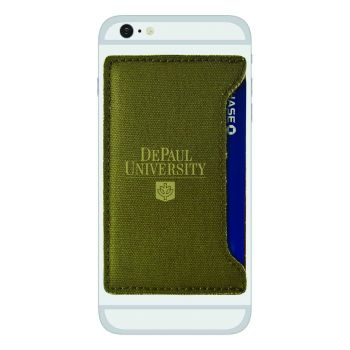 DePaul University-Durable Canvas Card Holder-Olive