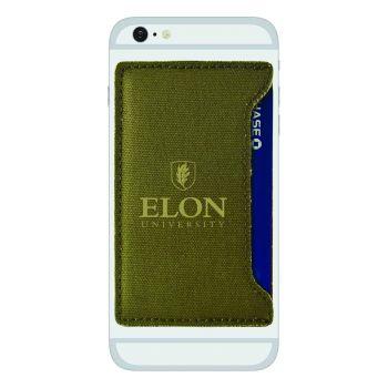 Elon University-Durable Canvas Card Holder-Olive