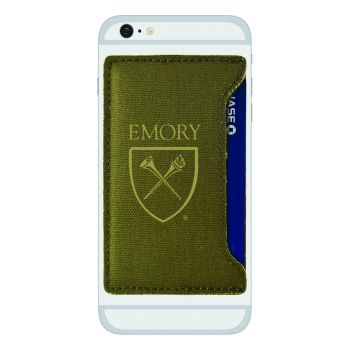 Emory University-Durable Canvas Card Holder-Olive