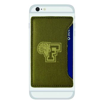 Fordham University-Durable Canvas Card Holder-Olive