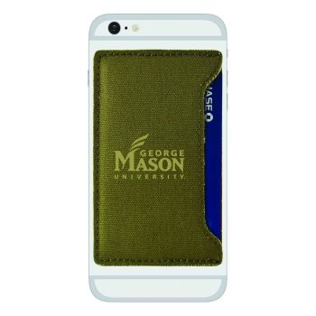 George Mason University -Durable Canvas Card Holder-Olive