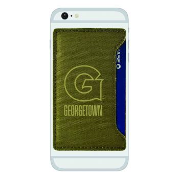 Georgetown University-Durable Canvas Card Holder-Olive