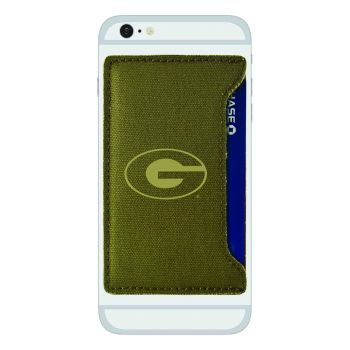 Grambling State University-Durable Canvas Card Holder-Olive