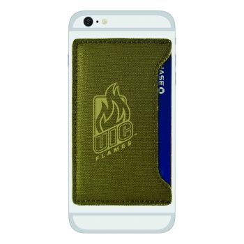 University of Illinois at Chicago-Durable Canvas Card Holder-Olive