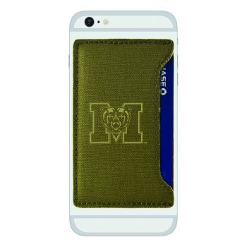 Mercer University-Durable Canvas Card Holder-Olive