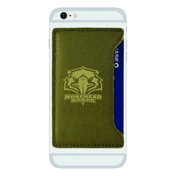 Morehead State University-Durable Canvas Card Holder-Olive