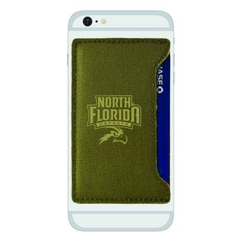 University of North Florida-Durable Canvas Card Holder-Olive