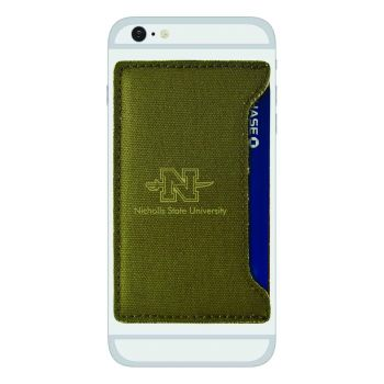 Nicholls State University-Durable Canvas Card Holder-Olive