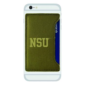 Norfolk State University-Durable Canvas Card Holder-Olive
