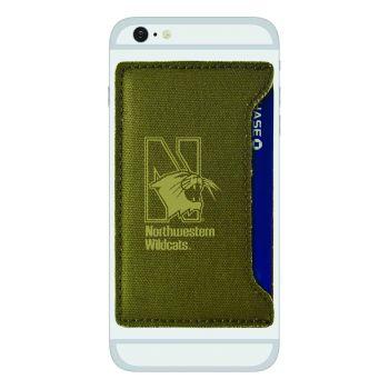 Northwestern University-Durable Canvas Card Holder-Olive