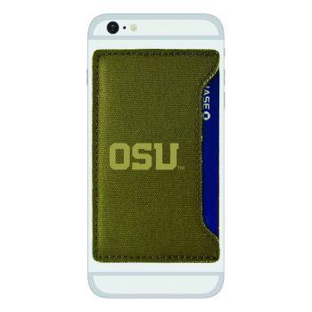 Oregon State University-Durable Canvas Card Holder-Olive