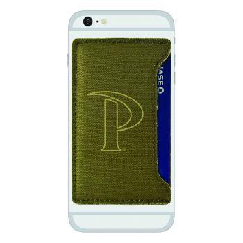 Pepperdine university-Durable Canvas Card Holder-Olive