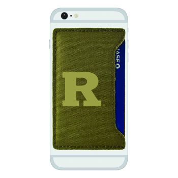 Rutgers University-Durable Canvas Card Holder-Olive